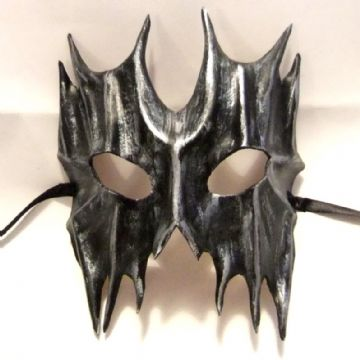 Genuine Handmade  Leather Devil Mask WILL FIT OVER GLASSES